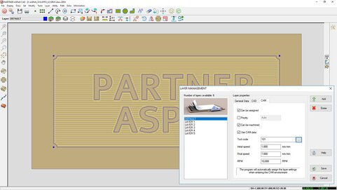 PARTNER/ASPAN configurazione layer